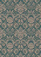 Erismann Palais Royal 6378-07 Klasszkius barokk díszítőminta zöld barna tapéta