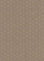 Erismann Scandinja 6466-11  grafikus design barna bronzsárga tapéta