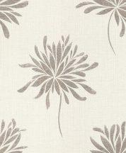Rasch Andy Wand 649017 Natur túlméretezett absztrakt virágok gyöngyházfehér ezüst szürke textilstruktúra fémes hatás tapéta