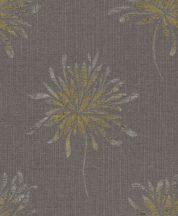 Rasch Andy Wand 649024 Natur túlméretezett absztrakt virágok palaszürke ezüst arany textilstruktúra fémes hatás tapéta