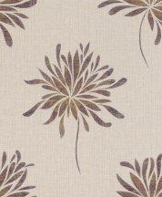 Rasch Andy Wand 649031 Natur túlméretezett absztrakt virágok pezsgőszín ezüst arany lila textilstruktúra fémes hatás tapéta