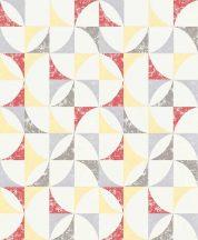 Erismann Darling Prime Time 6494-03 Geometrikus fehér sárga pros szürke tapéta