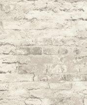 Rasch Andy Wand 649406 Natur kultikus Loft téglafal fehér szürke árnyalatok tapéta