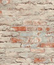 Rasch Andy Wand 649420 Natur kultikus Loft téglafal világosszürke szürkésbarna téglapiros tapéta
