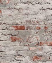 Rasch Andy Wand 649437 Natur kultikus Loft téglafal betonszürke vörösesbarna tapéta
