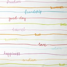 Caselio OH LA LA 66245040 Stripe Words Csíkos feliratok fehér szines tapéta