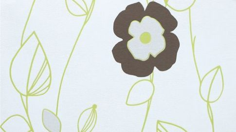 Erismann New Home 6681-11 Virágos grafikus krémfehér zöld barna tapéta