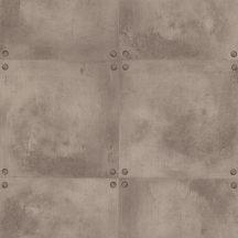 Caselio Loft 67352020 natur szegecselt beton barna szürkésbarna bézs tapéta