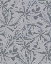 Novamur Ella 6758-10 Absztrakt natur levélminta sötétszürke/antracit ezüst fénylő hatás tapéta