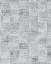Novamur Ella 6759-10 Geometrikus textil alapon négyzetek szürke fehér ezüst fénylő hatás tapéta