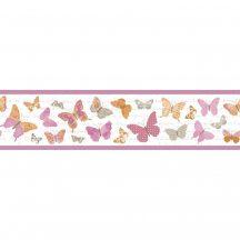 Caselio Pretty Lili 69114030 pillangók krémfehér narancs pink bézs bordűr