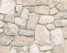 As-Creation Dekora Natur 6, 6924-29  kőmintás világos szürke krém tapéta