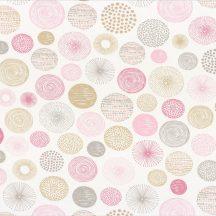 Caselio Pretty Lili 69274015  körök  krémfehér rózsaszín pink szürke  dekoranyag