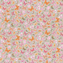 Caselio Pretty Lili 69284038 pillangók szürke szines dekoranyag
