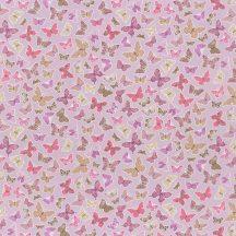 Caselio Pretty Lili 69284050  pillangók lila pink krém dekoranyag
