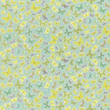 Caselio Pretty Lili 69287007  pillangók fűzöld almazöld menta szürke dekoranyag