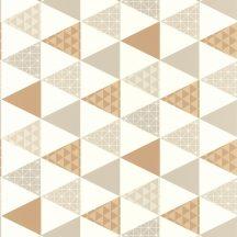Caselio Tonic 69441407 háromszögek krémfehér szürke barna  tapéta