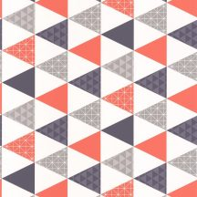 Caselio Tonic 69443813  háromszögek fehér kék narancs szürke  tapéta