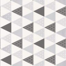 Caselio Tonic 69449412  háromszögek fehér ezüst  szürke antracit tapéta