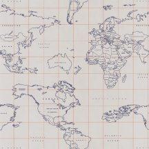 Caselio Tonic 69473328  világtérkép szürke kék arany tapéta
