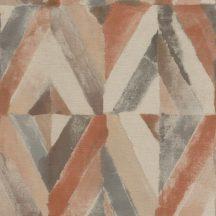 Rasch Kalahari 704020 Etno Geometrikus koncentrikus festett rombuszok bézs barna szürke terrakotta tapéta