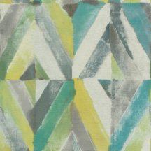 Rasch Kalahari 704037 Etno Geometrikus koncentrikus festett rombuszok sárga kék zöld szürke tapéta