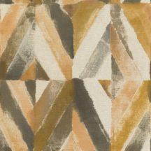 Rasch Kalahari 704044 Etno Geometrikus koncentrikus festett rombuszok vanília sárga szürke antracit tapéta