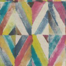 Rasch Kalahari 704051 Etno Geometrikus koncentrikus festett rombuszok bézs pink szines tapéta