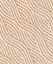 Rasch Kalahari 704549 Etno Grafikus egyedi mintavezetésű hullámminta stilizált homokdűne 3D bézs korallszín/barna tapéta