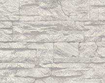 As-Creation Murano 7071-16 kőmintázatú  szürke fehér tapéta