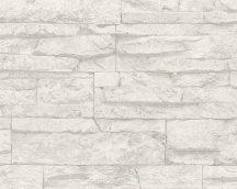 As-Creation Wood'n Stone 7071-61 kőmintázatú szürke fehér tapéta