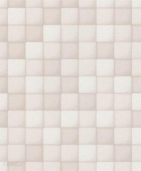 Rasch Shiny Chic 748901 Geometrikus 3D négyzetek fehér és szürke árnyalatok tapéta
