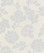 Rasch Allegretto 791068 Virágos díszítőminta fehér szürke tapéta