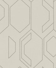 Rasch Cato 800821  design grafikus finoman csillogó ezüst vonalak krémfehér alapon tapéta