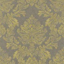 Rasch Via Trento 802672  klasszikus barokk díszítőminta szürke aranysárga tapéta