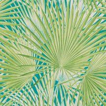 Rasch Lucy in the Sky 803310 Natur Trópusi háromdimenziós hatású pálmalevelek világoszöld türkiz tapéta
