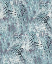 Rasch Hotspot 805321 natur pálmalevelek antracit kék szürke tapéta