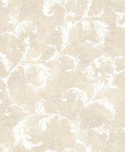 Casadeco Montsegur 80791212 ARABESQUE Klasszikus arab stílusú díszítőminta bézs fehér tapéta