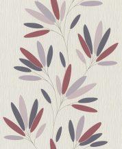 Rasch #tapetenwechsel 808742 virágos-leveles törtfehér antracit  mályva szürkéslila tapéta