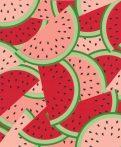 Rasch Kids & Teens III, 813814 Gyerekszobai dinnye szeletek piros rózsaszín zöld tapéta