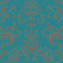 Casadeco Signature 81996156 PALACE klasszikus damaszt türkizzöld fémes rézszín tapéta