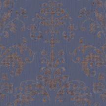 Casadeco Signature 81999124  PALACE klasszikus damaszt kék fémes rézszín tapéta