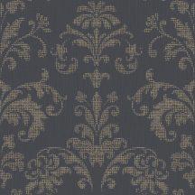 Casadeco Signature 81999504  PALACE klasszikus damaszt faszén fekete fémes rézszín tapéta