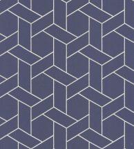 Casadeco Helsinki 82036319  FOCALE ENCRE  geometrikus tintakék fémes arany pontokkal tapéta