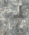 Rasch Kids & Teens III, 821215  Gyerekszobai Ipari design nagyvárosi megjelenítés fekete fehér szürke tapéta