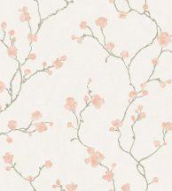Casadeco Natsu 82144222  HANAMI virágos törtfehér szürke rózsaszín tapéta