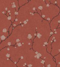 Casadeco Natsu 82148510  HANAMI virágos piros barna arany tapéta