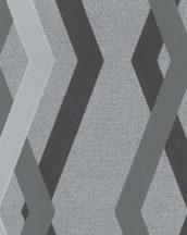 Novamur Giulia 82156 (6777-30) Geometrkius minta szürke árnyalatok fekete ezüst tapéta
