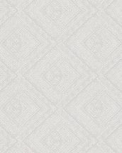 Novamur Giulia 82167 (6779-60) Geometrkius pontokkal kialakított rombuszminta szürkésbézs szürke fehér tapéta