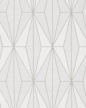 Novamur Giulia 82179 (6781-40) Geometrikus rombuszok törtfehér szürke ezüst tapéta